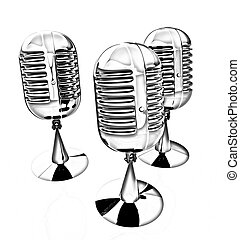 3d rendering of a microphones