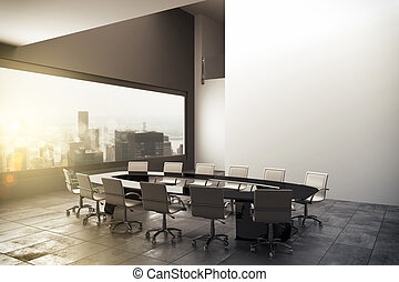 3D rendering of a modern office - 3D rendering of an office...
