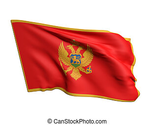 3d rendering of a Montenegro flag