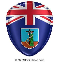 3d rendering of a Montserrat flag icon.