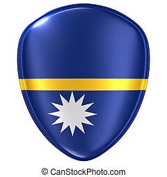 3d rendering of a Nauru flag icon.