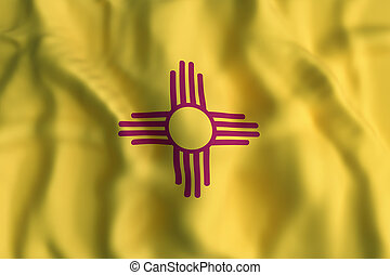3d rendering of a New Mexico State flag