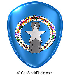 3d rendering of a Northern Mariana Islands flag icon.