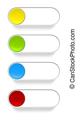 a push button in different colors