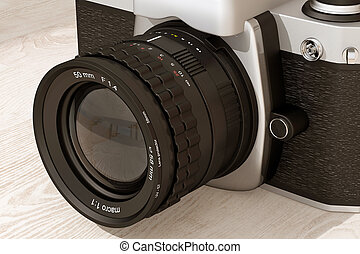 reflex analog camera - 3d rendering of a reflex analog ...
