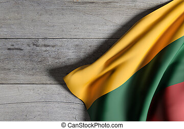 Lithuania flag waving
