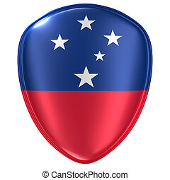 3d rendering of a Samoa flag icon.
