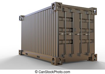 3d rendering of a shipping cargo container