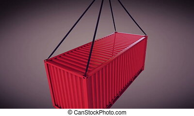 """""""3d rendering of a shipping container"""" - """"3d rendering of..."""