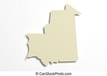 Mauritania map