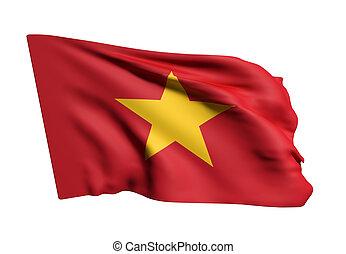 Socialist Republic of Vietnam flag waving