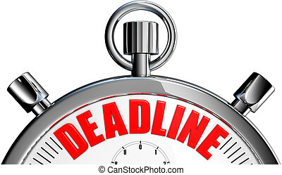 deadline - 3D rendering of a stopwatch with a deadline icon