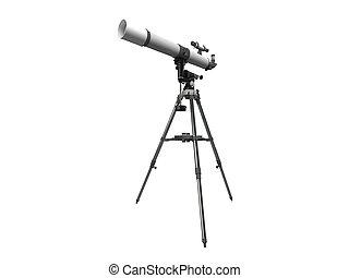 3D rendering of a telescope
