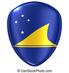 3d rendering of a Tokelau flag icon.