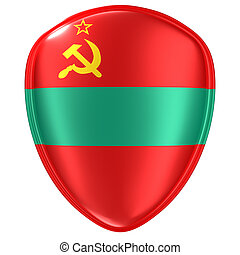 3d rendering of a Transnistria flag icon.