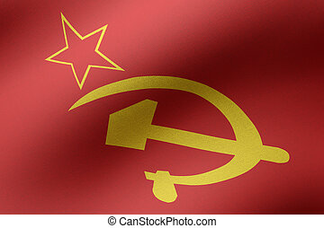 3d rendering of a USSR flag