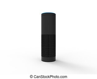 3D rendering of a virtual voice assistant isolated in white background.
