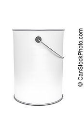 a white paint bucket
