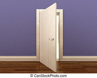 3d rendering of a wooden door
