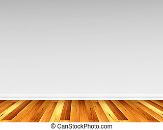 3D rendering of a wooden floor