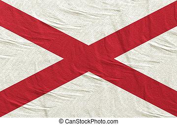 3d rendering of Alabama State flag