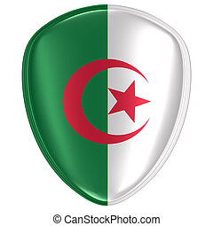 3d rendering of an Algeria flag icon.