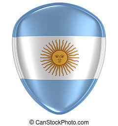 3d rendering of an Argentina flag icon.