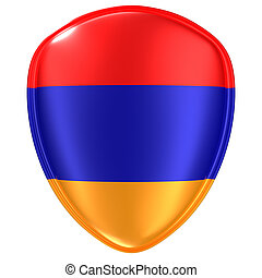 3d rendering of an Armenia flag icon.