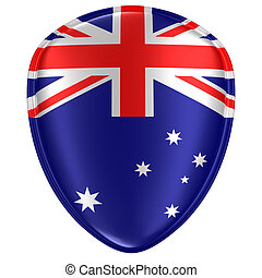 3d rendering of an Australia flag icon.