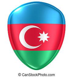 3d rendering of an Azerbaijan flag icon.