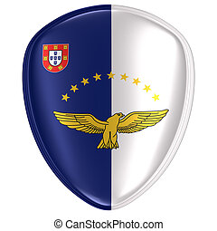 3d rendering of an Azores flag icon.
