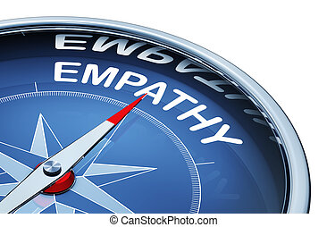 3D rendering of an compass with the word empathy