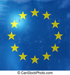 3d rendering of an EEC flag icon. - 3d rendering of an EEC ...