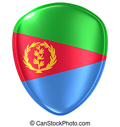 3d rendering of an Eritrea flag icon.