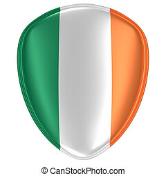 3d rendering of an Ireland flag icon.