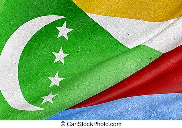 Union of the Comoros flag waving