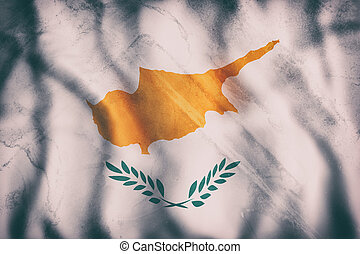 Cyprus flag waving