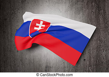 3d rendering of an Slovakia flag