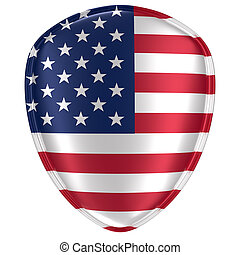 3d rendering of an USA flag icon.