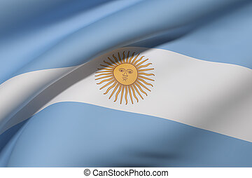 Argentine Republic flag waving