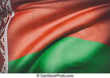 Belarus flag waving