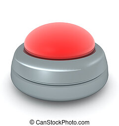 3D Rendering of big red button