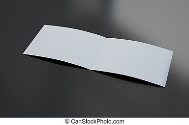 ... Blank Brochure   3d Rendering Of Blank Brochure  Blank Brochure
