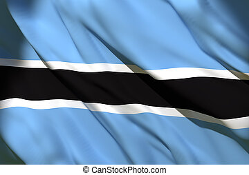 3d rendering of Botswana flag