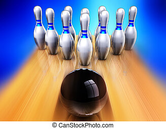 bowling - 3D rendering of bowling