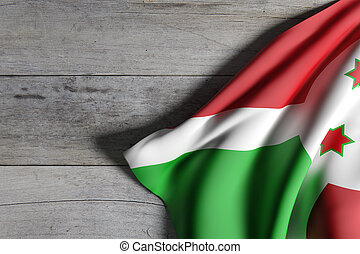 Burundi flag waving