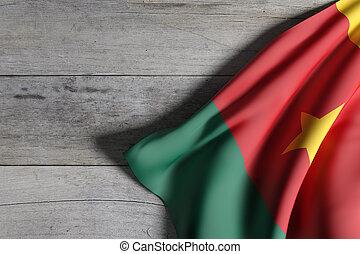 Cameroon flag waving