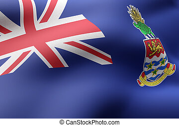 Cayman Islands flag waving