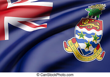 Cayman Islands flag waving