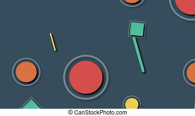 3d rendering of different colorful shapes. Computer generated geometric background